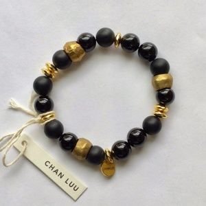 Chan Luu Black Onyx Stretch Bracelet